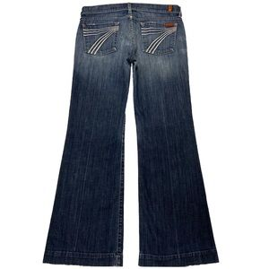 7 For All Mankind Dojo 29X30.5 Flare Blue Jeans